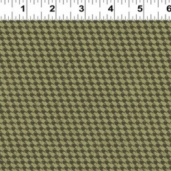 HOUNDSTOOTH PLAID - GREEN