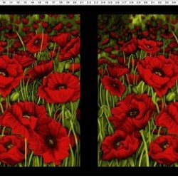 POPPIES PANEL (60CM) - RED