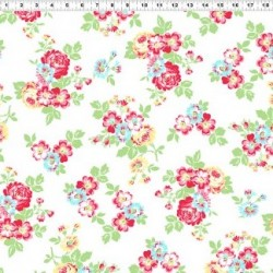 JANEY FEATURE FLORAL - WHITE