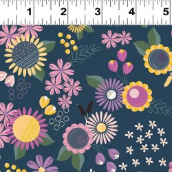 Feature Floral - LT NAVY