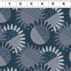 Tonal Flowers - NAVY