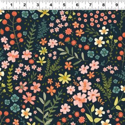 Feature Floral - NAVY