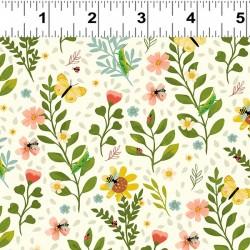 Medium Floral - CREAM