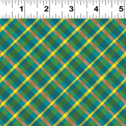 Diagonal Plaid - TEAL