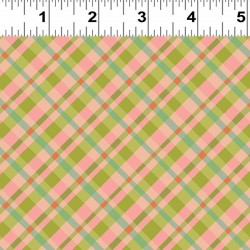 Diagonal Plaid - CORAL