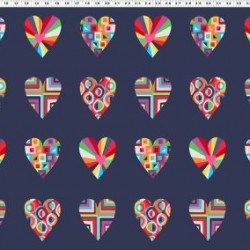 Large Hearts - NAVY