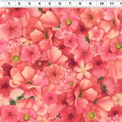 Packed Floral - DK CORAL