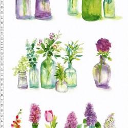 Flower Bottles Panel (60cm)