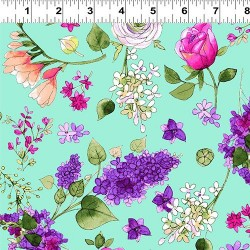 Feature Floral - TURQUOISE