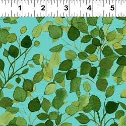 Lacey Leaves - TURQUOISE