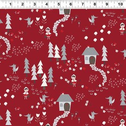 Forest Path Toile - RED