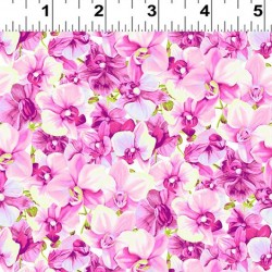 Packed Floral - LT FUCHSIA