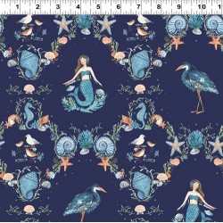 Mermaids & Sea life - NAVY