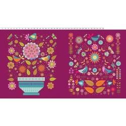 Flowerpot Panel (60cm) - MAGENTA/MULTI