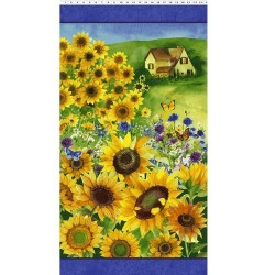 Sunflower Field Panel 60cm - MULTI