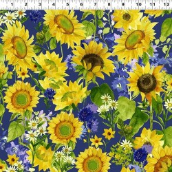 Sunflowers and Daisys - PURPLE