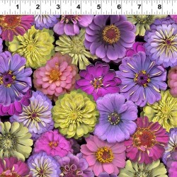 Large Flowers - PURPLE/MULTI