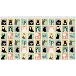 Cool Cats Blocks - BEIGE