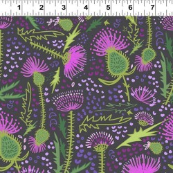 Large Thistles Feature - BLACK