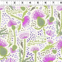 Large Thistles Feature - WHITE