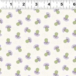 Small Tossed Thistles - WHITE/LT GREEN