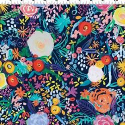 Painted Flowers Digital- CREAM