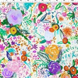 Painted Flowers Digital - CREAM