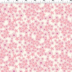 Tossed Flowers - CREAM/PINK