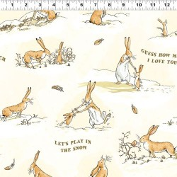 Playful Bunnies Flannel - YELLOW