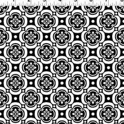 Flower Pattern - BLACK/RED