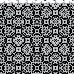 Flower Pattern - BLACK/GREY