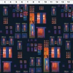 Night Window Scene - BLACK