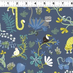 Jungle Scene - NAVY
