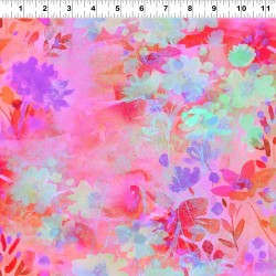 Waterpaint Flowers and Patterns - PINK/YELLOW
