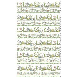 Frog Pictorial Stripe - WHITE