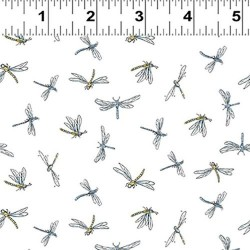 Dragonflies - WHITE