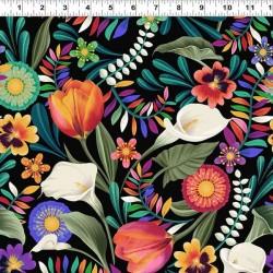 Festive Floral - BLACK