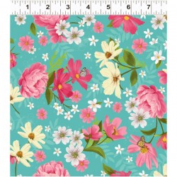 Mixed Floral - TURQUOISE