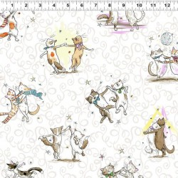 Dancing Cats - WHITE