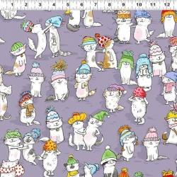 Cats in Hats - LT PURPLE