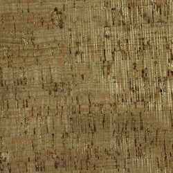 """Cork Fabric-Natural/Gold lines- 18""""x15"""""""