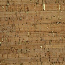 "Cork Fabric-Natural/Gold- 18""x15"""
