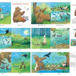 Book Panel - Bear Counts (90cm) - MULTI