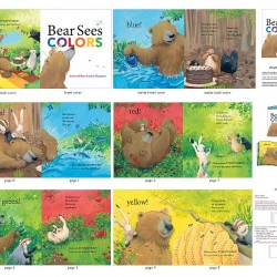 Book Panel - Bear Sees Colors (90cm) - MULTI