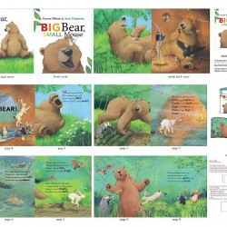 Book Panel - Big Bear Small Mouse (90cm) - MULTI