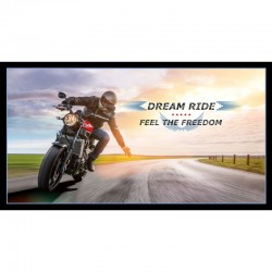 Panel - Motorbike Sunset 60cm - BLACK