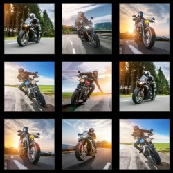 Panel - Motorbike Blocks 60cm - BLACK