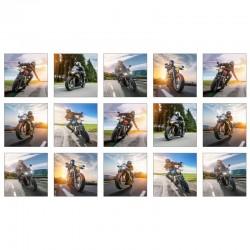 Panel - Motorbike Blocks 60cm - WHITE
