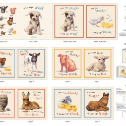 Book Panel - Who Says Woof (90cm) - CREAM