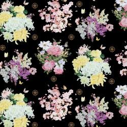 Multi Flowers - BLACK
